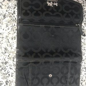 Coach Bags - Coach pleated wallet. Silver coach and horses